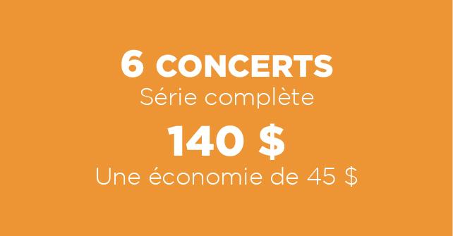 Série de 6 concerts 140 $ - Festival Piopolis